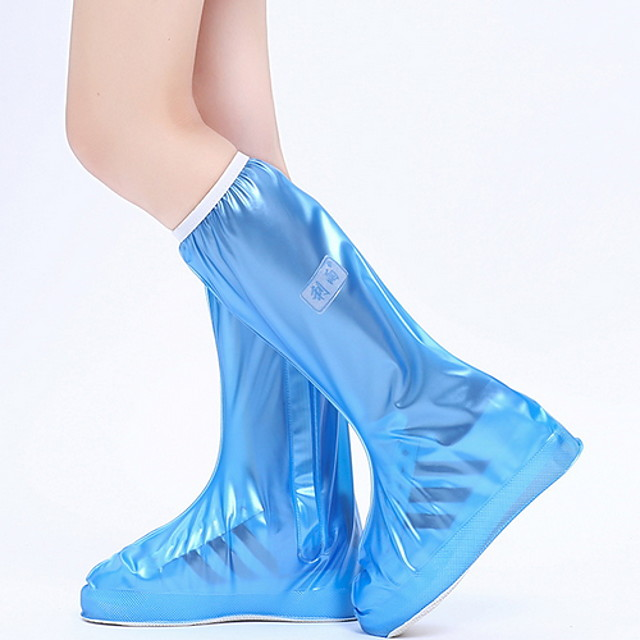 Women's Boots Flat Heel Round Toe PVC Mid-Calf Boots Spring & Summer Black / White / Blue