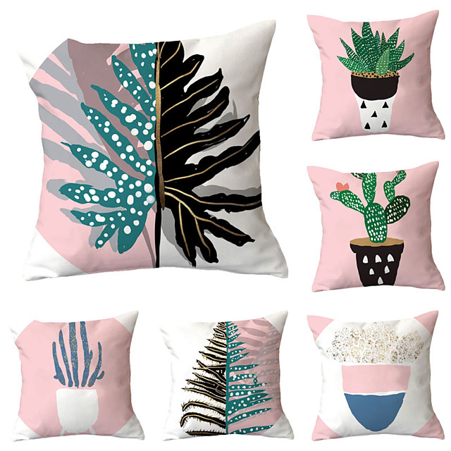 6 pcs Throw Pillow Simple Classic 45*45 cm Cushion Vintage Circle Cover Sofa Home Decor Throw Pillow Case