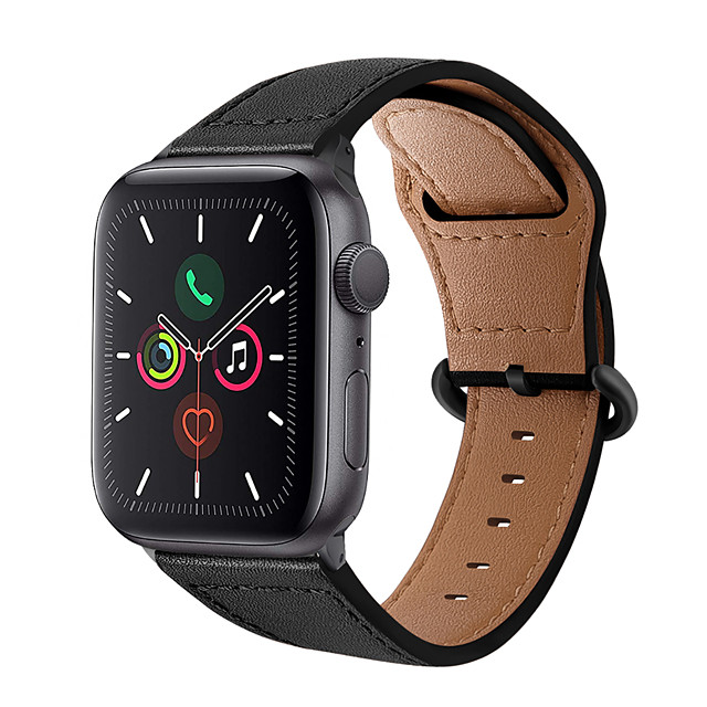 Watch Band for Apple Watch Series 5/4/3/2/1 Apple Business Band Genuine Leather Wrist Strap