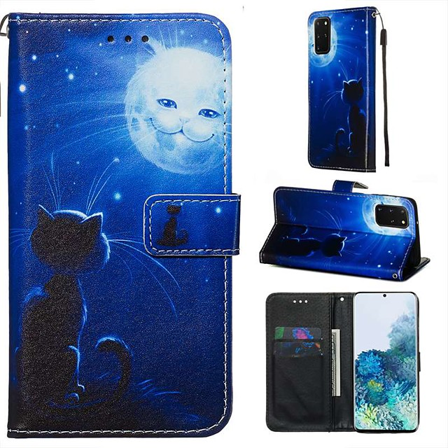 Case For Samsung Galaxy A90/Galaxy A80/Galaxy A50s Wallet / Card Holder / with Stand Full Body Cases Cat / Scenery PU Leather For Galaxy A51/A71/S20/S20 Plus/S20 Ultra/A10S/A20S/A30S