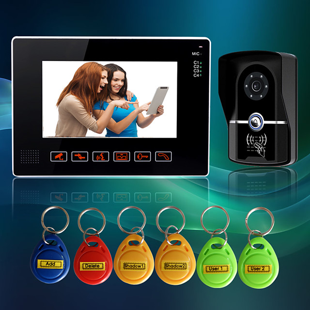 Wired 9 Inch Hands-free 800*480 Pixel One To One Video Doorphone