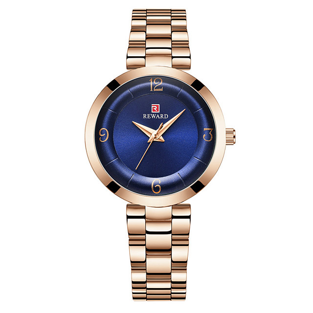 Women's Steel Band Watches Luxury Fashion Stainless Steel Japanese Quartz Purple Green Blue Water Resistant / Waterproof 30 m 1 pc Analog One Year Battery Life