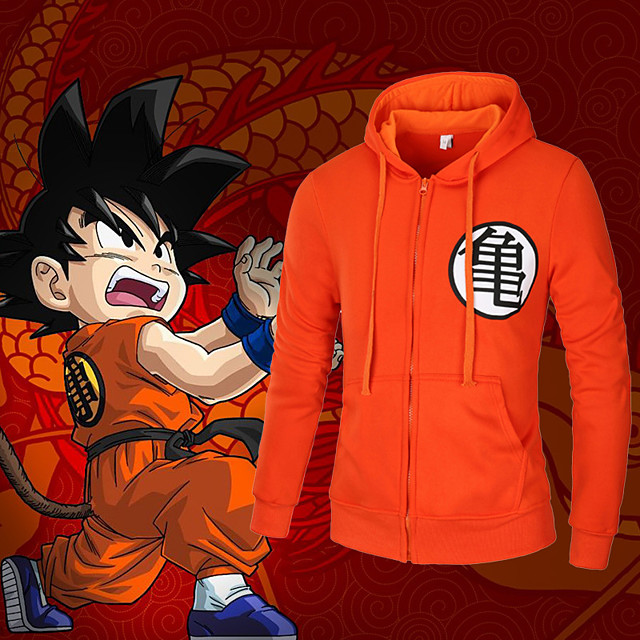 Inspired by Dragon Ball Cosplay Anime Cosplay Costumes Japanese Cosplay Hoodies Top For Men's