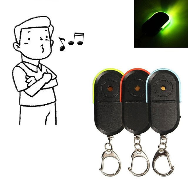 Whistle Sound LED Light Anti-Lost Alarm Key Finder Locator Keychain Device