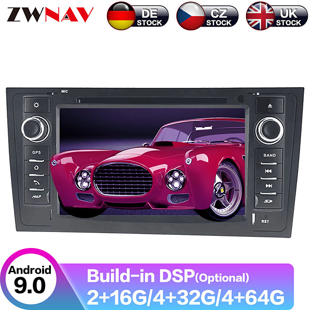 ZWNAV 7inch 2din Android 9.0 PX5/PX6 Car DVD player Car GPS navigation Car multimedia player Auto radio tape recorder For AUDI A6 1997-2005