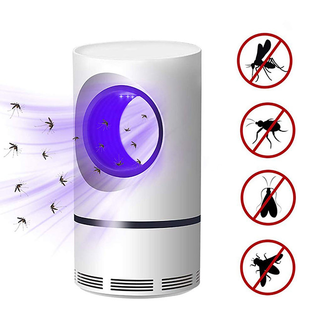 5W USB Powered Electric Photocatalytic Anti Mosquito Killer Lamp UV Photocatalys Bug Insect Trap Light Pest Control Repellent