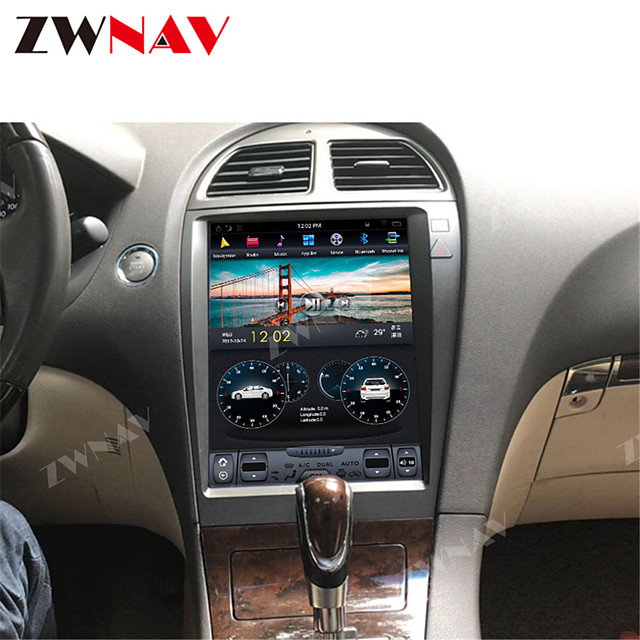 ZWNAV 12.1inch 1din 4GB 64GB Tesla style Android 8.1 Car GPS Navigation car multimedia player Car MP5 Player radio tape recorder For Lexus ES250 ES300 ES330 ES350 ES300H