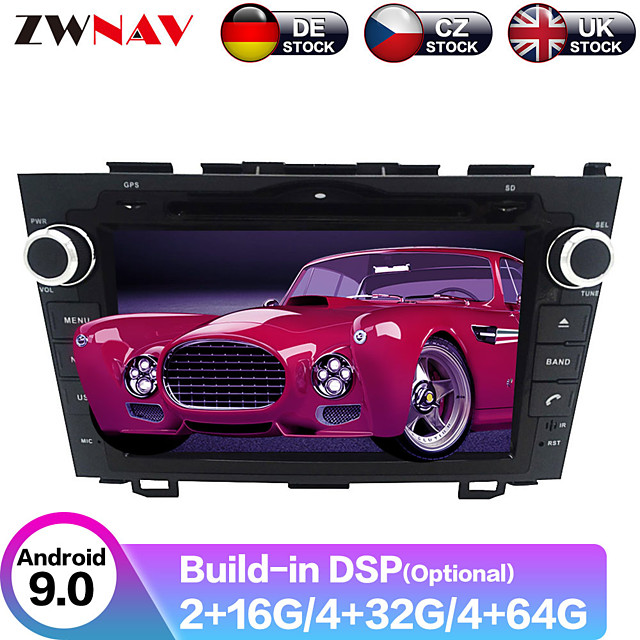 ZWNAV 8inch 2din 4GB 64GB Android 9 Car DVD Player GPS navigation Car multimedia player radio tape recorder auto For Honda CRV CR-V 2006-2011