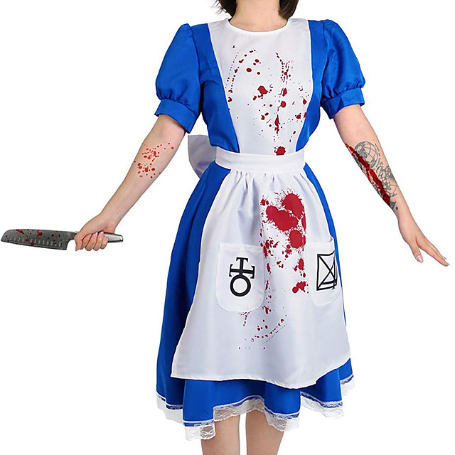 Inspired by Alice's Adventures in Wonderland Maid Costume Anime Cosplay Costumes Japanese Cosplay Suits Costume For Women's