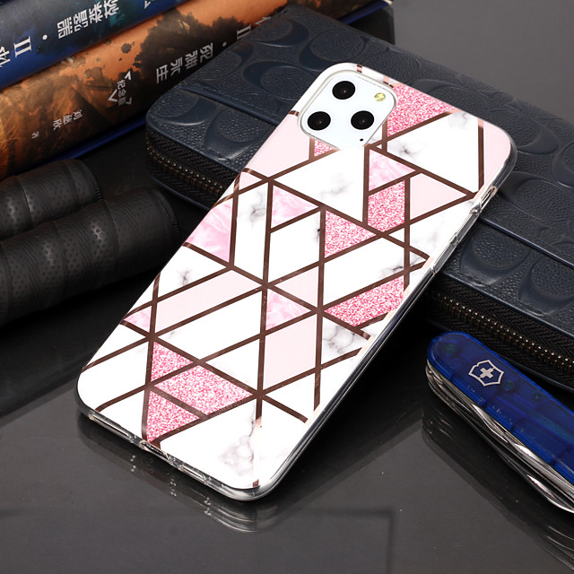 Case For Apple iPhone 11 / iPhone 11 Pro / iPhone 11 Pro Max Plating / Pattern Back Cover Geometric Pattern TPU for iphone XS Max XR XS X 8 Plus 7 Plus 6s Plus 6G 5G