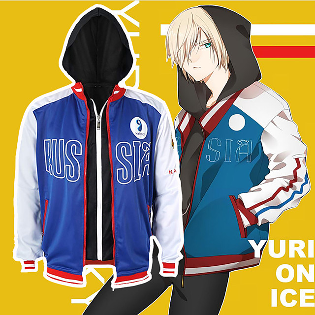 Inspired by Yuri!!! on ICE Cosplay Anime Cosplay Costumes Japanese Cosplay Hoodies Coat For Men's