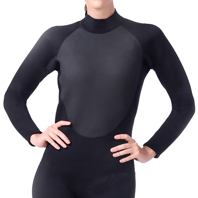 Women's Full Wetsuit 3mm SCR Neoprene Diving Suit Thermal / Warm Stretchy Long Sleeve Back Zip - Diving Water Sports Patchwork Autumn / Fall Spring Summer / Winter / High Elasticity