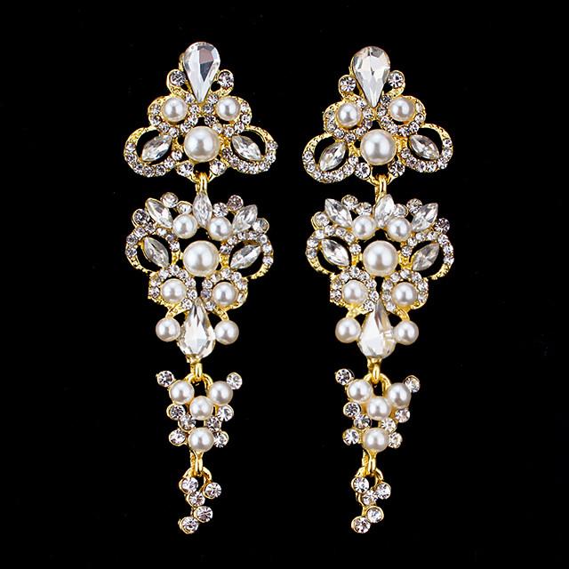 Women's Drop Earrings Dangle Earrings Pear Cut Drop Elegant Fashion Earrings Jewelry Gold / Silver For Wedding Party Anniversary Prom 1 Pair
