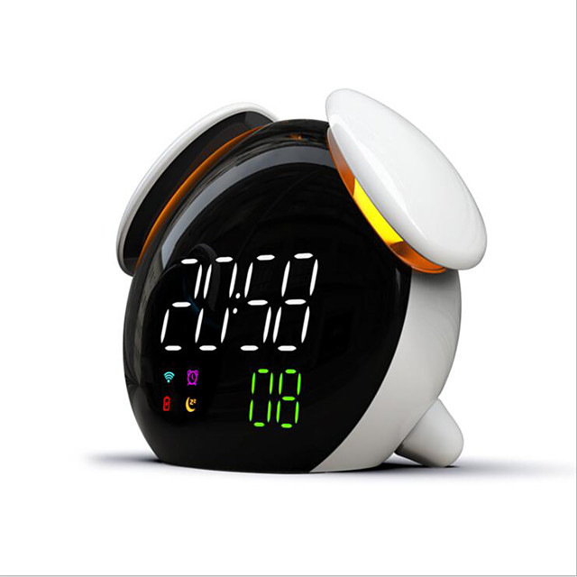LED Alarm Clock with Voice Broadcast Intelligent Induction Smart Time Night Light APP Control Touch Smart Switch USB Bedroom Bedside Lamp