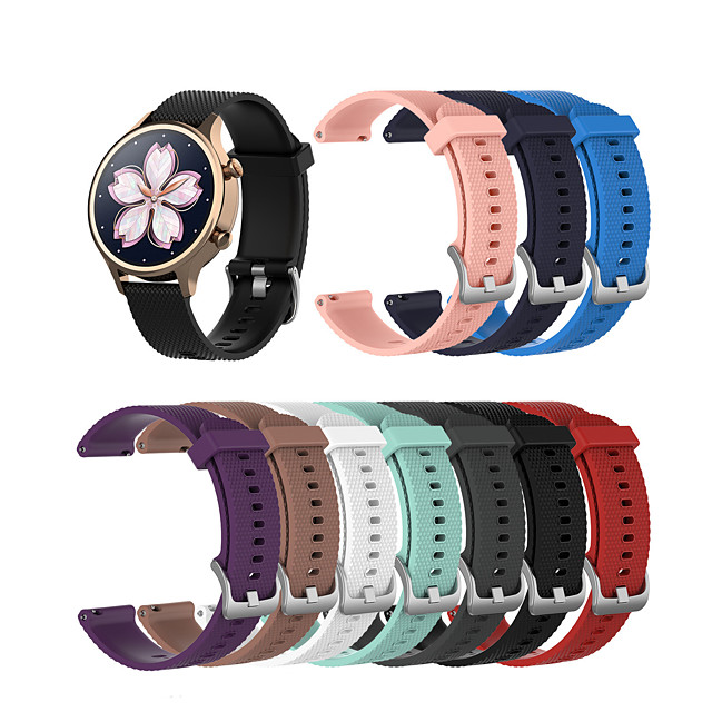 Watch Band for Fossil Gen 4 Q Venture HR / Fossil Gen 3 Q Venture FOSSIL Classic Buckle Silicone Wrist Strap