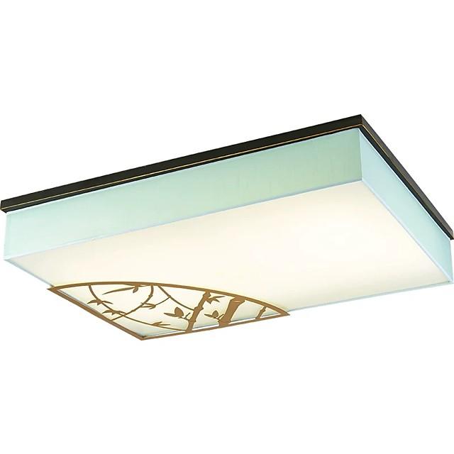 QIHengZhaoMing 90 cm Island Design Flush Mount Lights Metal Fabric Modern 110-120V / 220-240V