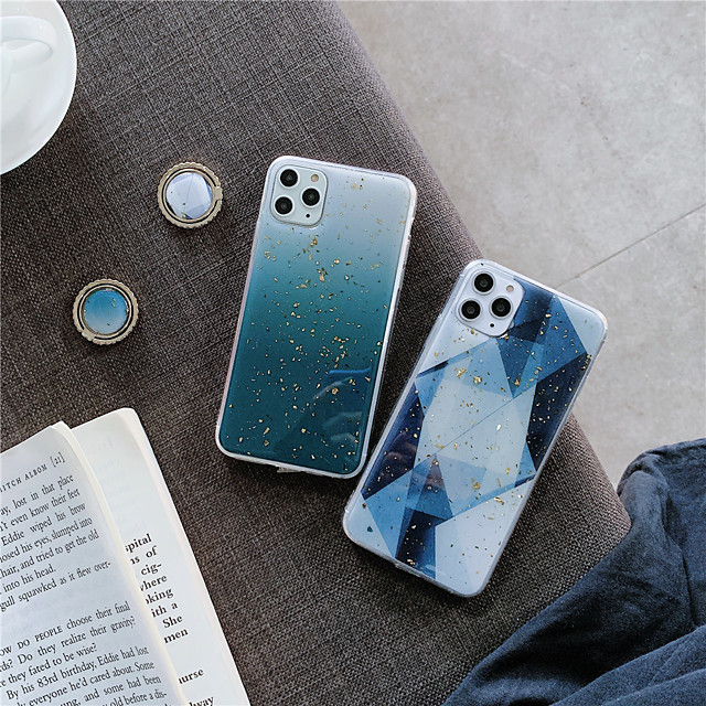 Case For Apple iPhone 11 / iPhone 11 Pro / iPhone 11 Pro Max Ring Holder / Pattern / Glitter Shine Back Cover Geometric Pattern / Glitter Shine TPU