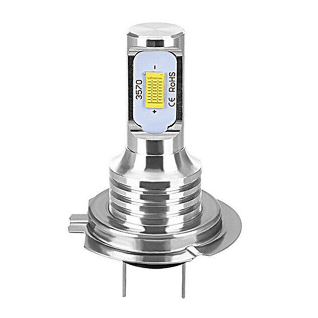 1pcs H7 80W Canbus LED Car Headlight Bulbs Auto Lights Automobile Driving Fog Lamp 2leds SMD 3570 CSP Fog Light