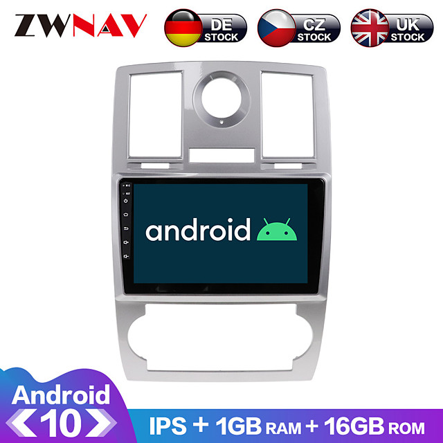 ZWNAV 9inch 1din 1GB 16GB Android 10.0 2.5D IPS Car Radio Car GPS Navigation Stereo Navi in Dash Car MP5 Player Car Multimedia Player Video Player with Bluetooth WiFi BT for Chrysler 300C 2000-2014
