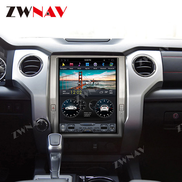 ZWNAV 12.1Inch 1Din Android 8.1 Vertical sceen Tesla style Car GPS Navigation Car Multimedia player Car MP5 Player radio tape recorder For Toyota Tundra 2014