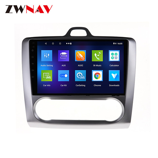 ZWNAV 9 inch 1DIN 1GB 16GB Android 10.0 Car GPS Navigation Car Stereo Player Car MP5 Player Car Multimedia Player DSP CarPlay For Ford Focus 2004-2011