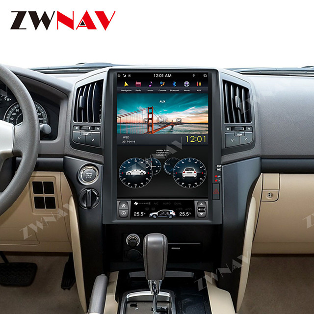 ZWNAV 15.6 inch 1DIN Tesla style 4GB 64GB Car DVD Player GPS Navigation auto Radio Car stereo multimedia Player for TOYOTA LAND CRUISER LC200 2008-2015 PLUS
