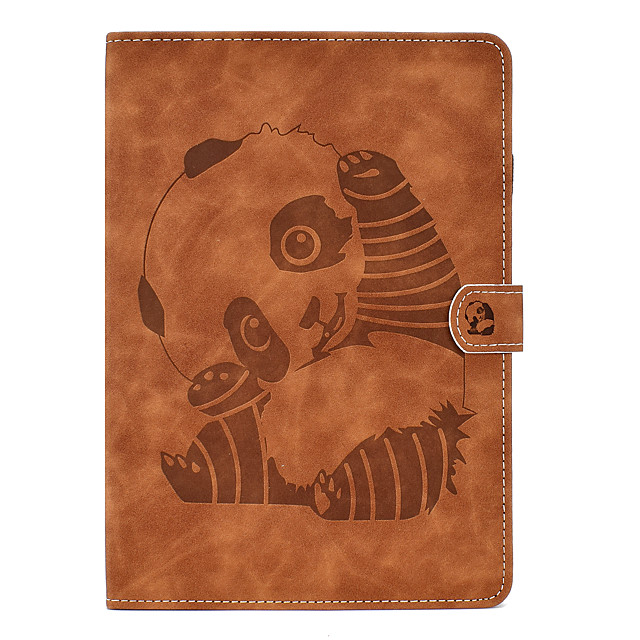 Case For Apple iPad Air / iPad 4/3/2 / iPad Mini 1.2.3.4.5 Card Holder / with Stand / Flip Full Body Cases Animal / Cartoon / Panda PU Leather for ipad 2017 2018 ipad pro 10.5 iPad 2018 ipad 10.2 2019