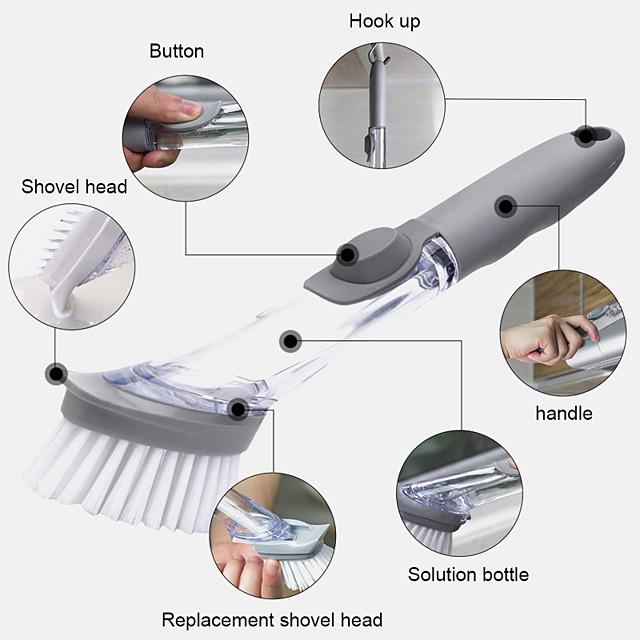 שימוש כפול מברשת ניקוי מברשת מנקה קערת כלים קערת כביסה ספוג כלים אוטומטיים לניקוי כלים לסיר מטבח