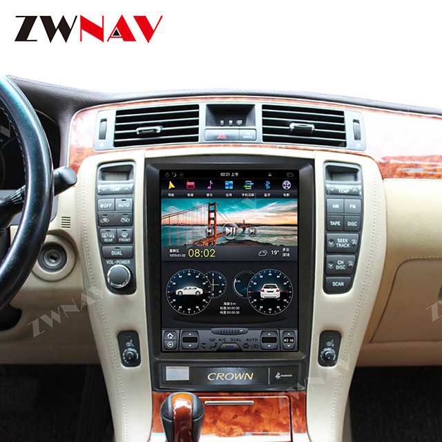 ZWNAV 12.1 inch 1DIN 4GB 64GB Tesla style Android 8.1 vertical screen Car GPS Navigation car multimedia player Car MP5 Player radio recorder For TOYOTA CROWN 2012