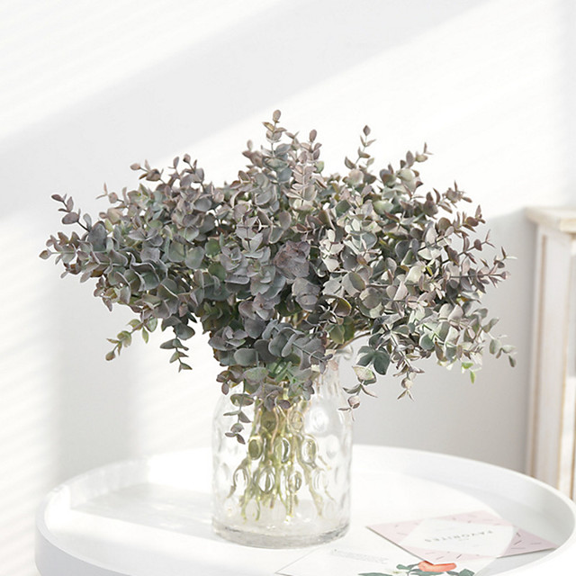 Artificial Flowers 3 Branch Classic Modern Contemporary Simple Style Plants Tabletop Flower