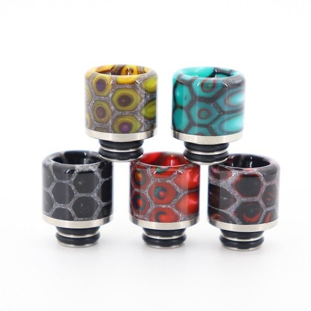 YUHETEC 510 Resin Stainless Steel Snake Skin Drip Tip with Screen Prevent  Frying Oil for ijust S/TFV8 baby/ Stick M17/MELO 4 D25 Mini/Ammit 25/Creed RTA Atomizer 1PC