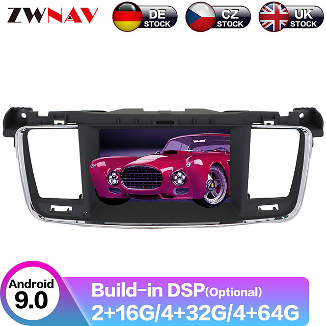 ZWNAV 7inch 2din 4GB 64GB Android 9 Car DVD player GPS navigation auto radio car Multimedia Player radio Stereo For PEUGEOT 508 2011-2017