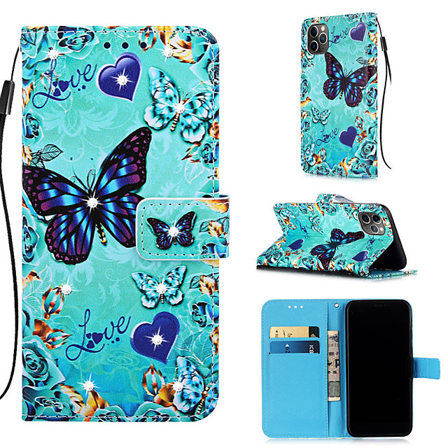 Case For Apple iPhone 11 / iPhone 11 Pro / iPhone 11 Pro Max Wallet / Card Holder / with Stand Full Body Cases Butterfly PU Leather for iPhone XS MAX XR XS X 8 PLUS 7 PLUS 6 PLUS 8 7 6S
