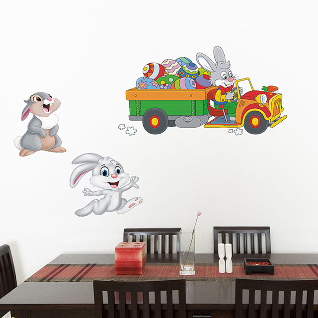 Animals / Holiday Wall Stickers Plane Wall Stickers Decorative Wall Stickers, PVC Home Decoration Wall Decal Wall / Window Decoration 1pc