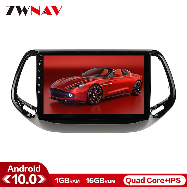 ZWNAV 10.1inch 1din Android 10 1GB 16GB Car DVD Player Car GPS Navigation Auto Stereo Radio Car Multimedia Player For Jeep Grand Wrangler 2011-2016