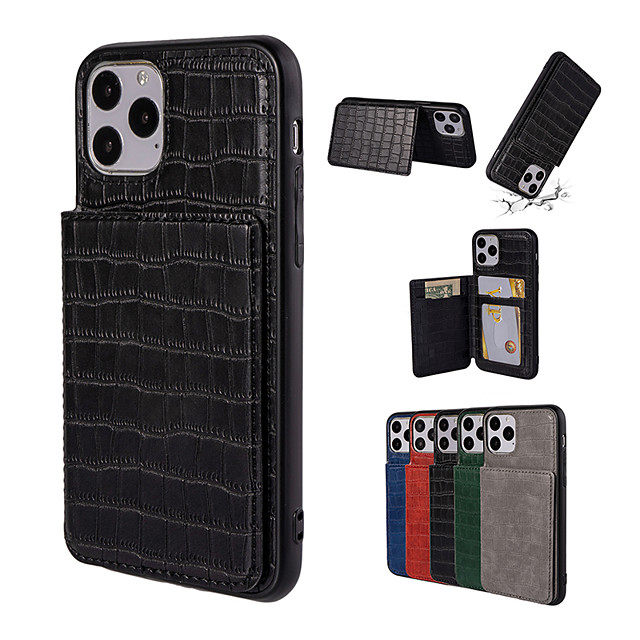 iPhone11Pro Max Crocodile Card Wallet Phone Case XS Max Shatterproof Open 6/7 / 8Plus Cover