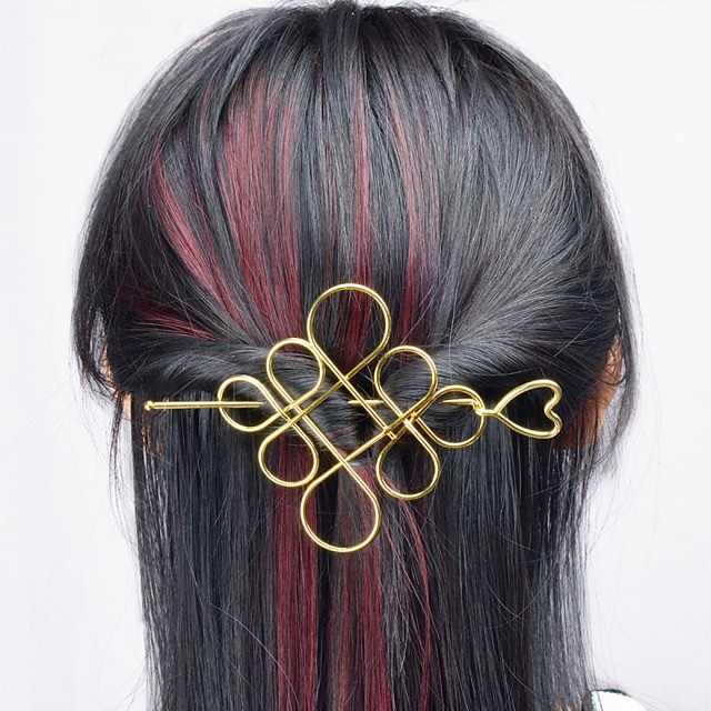 Women's Hair Sticks For Casual Outdoor Festival Alloy Silver Golden 1pc