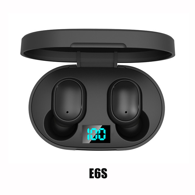 imosi E6S TWS True Wireless Earbuds Wireless Bluetooth 5.0 Stereo with Microphone with Volume Control with Charging Box Waterproof IPX4 for Mobile Phone