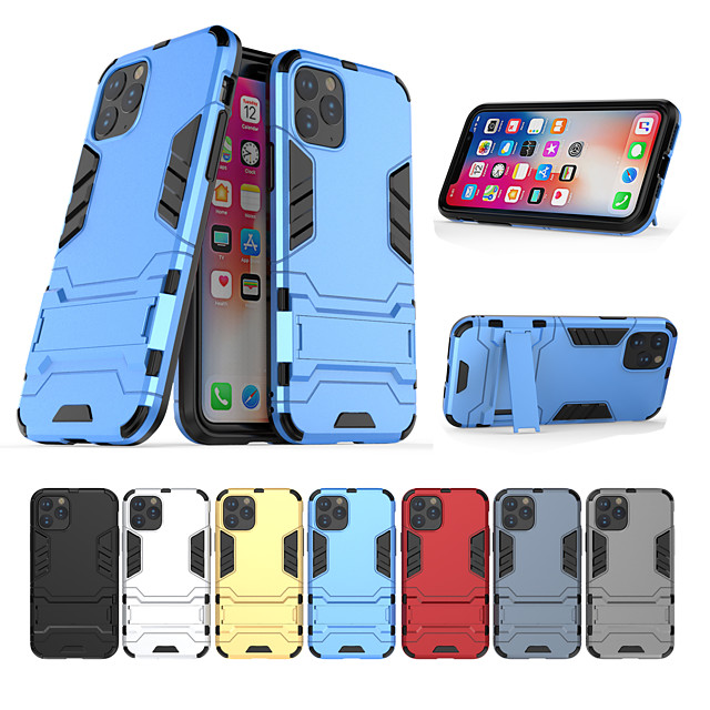 Case For Apple scene map iPhone 11 11 Pro 11 Pro Max Iron Man series invisible stand PC TPU 2-in-1 armor anti-fall phone case