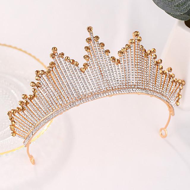 Women's Hair Jewelry For Wedding Birthday Wedding Birthday Geometrical Crystal Alloy Gold 1 pc