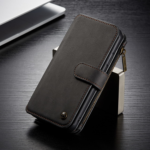 CaseMe Multifunctional Magnetic Luxury Business Leather Flip Phone Case For Samsung Galaxy Note 10 / Note 10 Plus / Note 9 With Wallet Card Slot Stand Detachable Case Cover