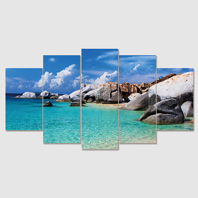 Print Rolled Canvas Prints Modern Landscape set of 5 pcs without Frame Art Prints