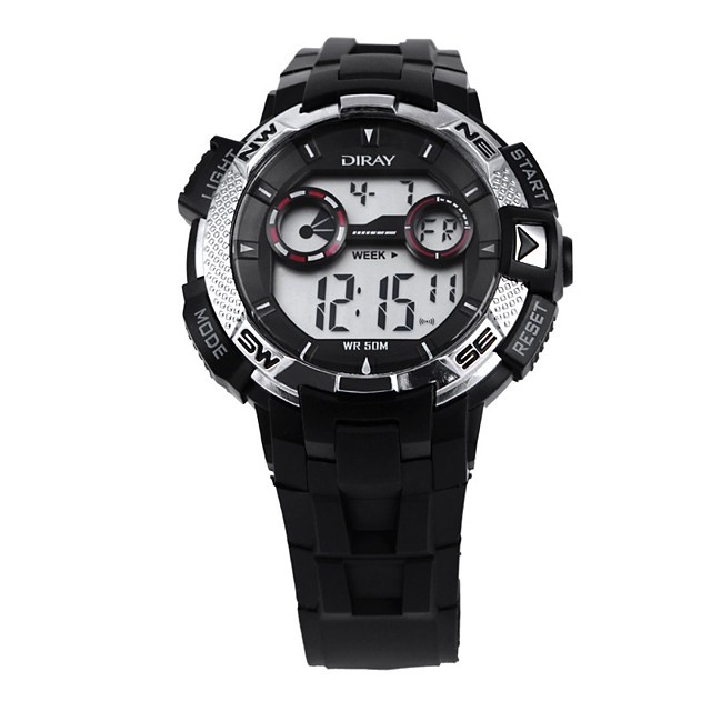 Men's Sport Watch Automatic self-winding PU Leather Black 50 m Calendar / date / day Chronograph Alarm Clock Digital Casual Fashion - Black Orange Blue One Year Battery Life