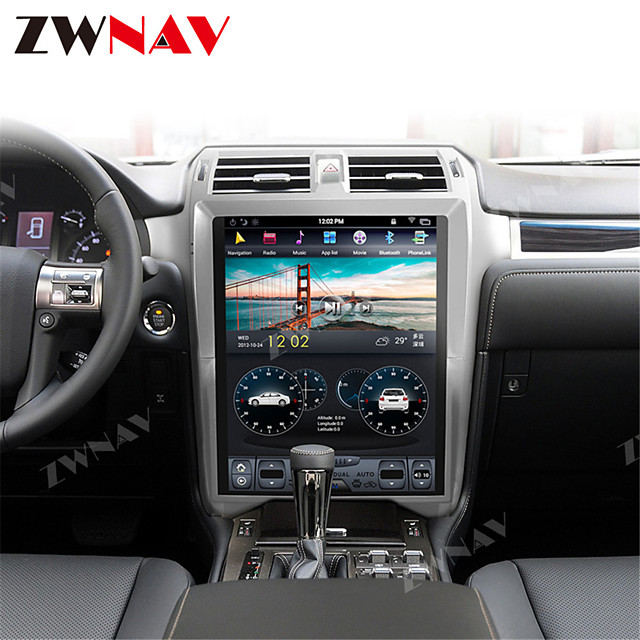 ZWNAV 15 inch 1din 4GB 64GB Android 8.1 vertical screen Tesla style Car GPS Navigation car multimedia player Car MP5 Player radio tape recorder For Lexus GX400 GX460