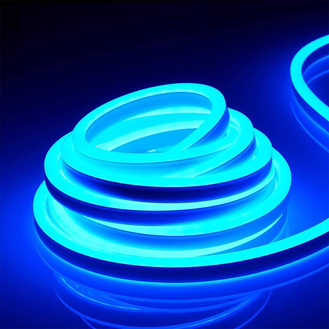 ZDM 65ft/20m Waterproof Neon Light Flexible 2835 120 LEDs/M Strip Light for Christmas Lighting Decor Indoor Outdoor Home AC 220V EU Plug