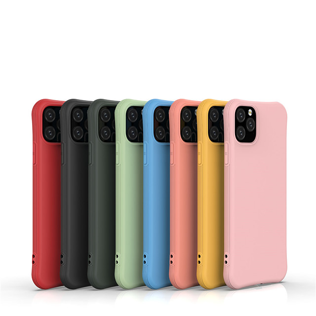 Case For Apple iPhone 11 / iPhone 11 Pro / iPhone 11 Pro Max Shockproof / Frosted Back Cover Solid Colored TPU