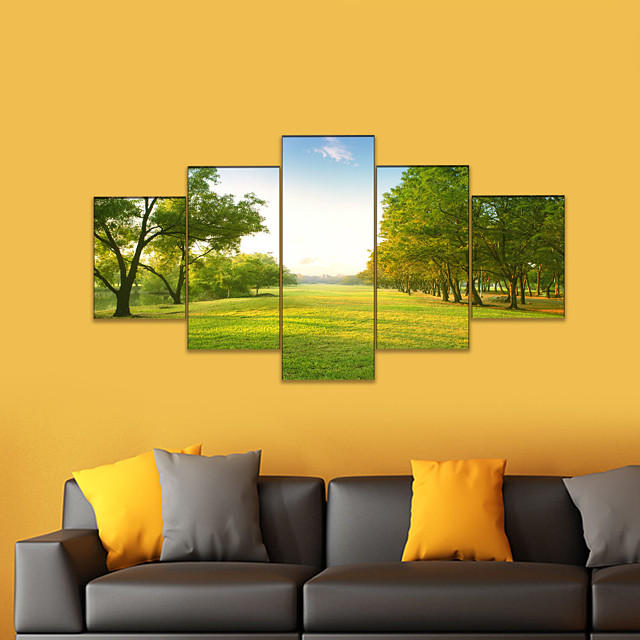 AMJ Hot Scenery Five-frame Painting Living Room Sofa Background Wall Decoration Canvas Picture Frameless Core