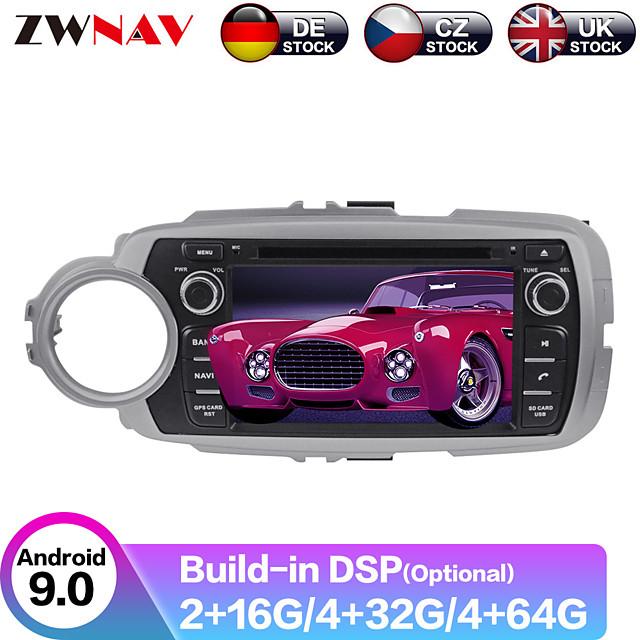 ZWNAV 7inch 2din 4GB 64GB Android 9.0 Car GPS Navigation car DVD player Autoradio Player Car Multimedia player For TOYOTA Yaris 2012