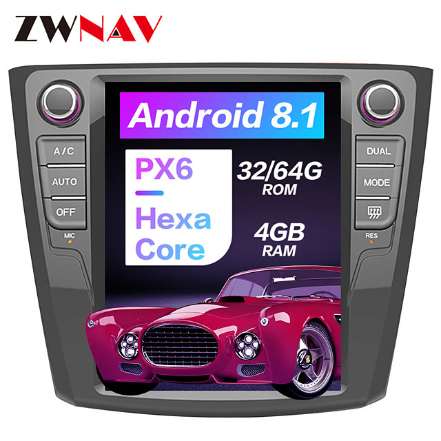 ZWNAV 10.4inch 1DIN Android 8.1 4GB 64GB PX6 Tesla style Car GPS Navigation Car multimedia player In-Dash Car DVD Player For Renault Kadjar 2016-2018