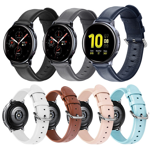 Watch Band for Gear S2 / Samsung Galaxy Watch 42mm / Samsung Galaxy Active Samsung Galaxy Leather Loop / Modern Buckle / Business Band Quilted PU Leather Wrist Strap